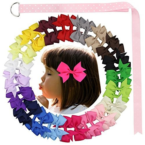 """40 Pieces 3"""" Bowknot Hair Bows with Clip for Girls and Women by Nancyus005"""