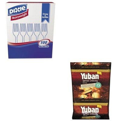 KITDXEFH207YUB863070 - Value Kit - Yuban Special Delivery Coffee (YUB863070) and Dixie Plastic Cutlery (DXEFH207)