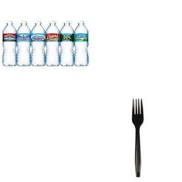 KITBWKFORKHWBLANLE101243 - Value Kit - Boardwalk Full Length Polystyrene Cutlery (BWKFORKHWBLA) and Nestle Bottled Spring Water (NLE101243)