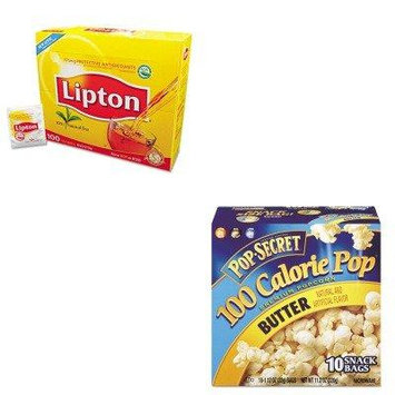 KITDFD27182LIP291 - Value Kit - Pop Secret Microwave Popcorn (DFD27182) and Lipton Tea Bags (LIP291)