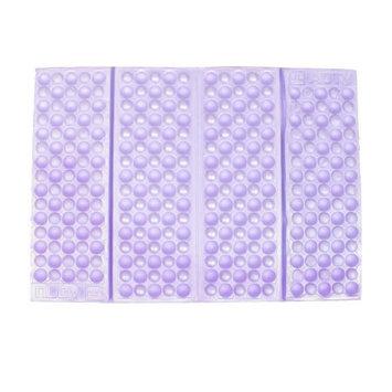 36cm x 26cm Honeycomb Foldable Foam Cushion Seat Pad Purple for Chair