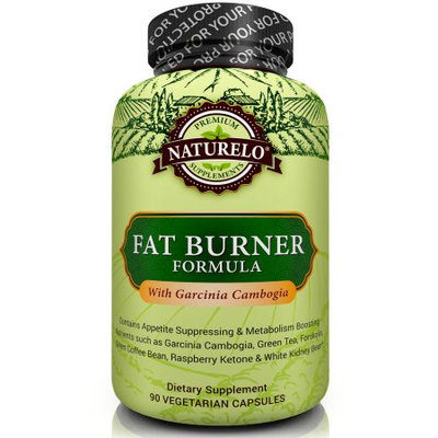 Naturelo Fat Burner with Garcinia Cambogia & Green Tea Extracts - 90 Capsules