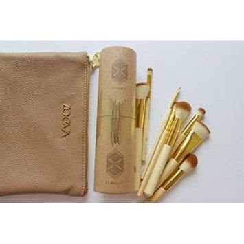 Makeup Brush Set Professional Real Techniques : ZOEVA Bamboo Luxury Set 8 : Eyeshadow Brush Cheap Organizer Travel Bag Case Sephora