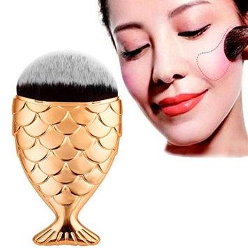 Creazy Fish Scale Makeup Brush Fishtail Bottom Brush Powder Blush Makeup Cosmetic Brush (G
