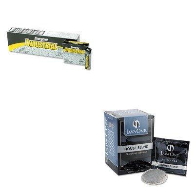KITEVEEN91JAV40300 - Value Kit - Java Trading Co. Coffee Pods (JAV40300) and Energizer Industrial Alkaline Batteries (EVEEN91)