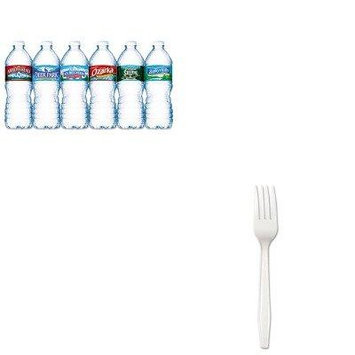 KITBWKFORKHWNLE101243 - Value Kit - Boardwalk Full Length Polystyrene Cutlery (BWKFORKHW) and Nestle Bottled Spring Water (NLE101243)