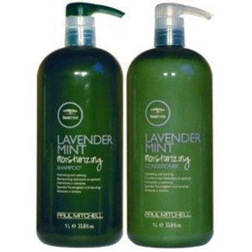 Paul Mitchell Tea Tree Lavender Mint Moisturizing Shampoo 1 Liter/33.8oz and Conditioner 1 Liter/33.8oz