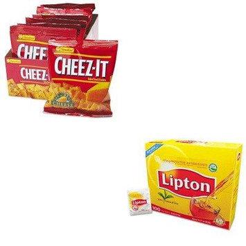 KITKEB12233LIP291 - Value Kit - Kellogg's Cheez-It Crackers (KEB12233) and Lipton Tea Bags (LIP291)