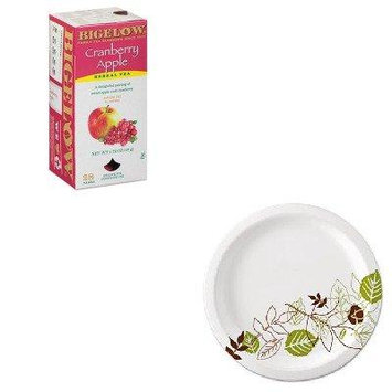 KITBTC10400DXEUX9WSPK - Value Kit - Bigelow Cranberry Apple Herbal Tea (BTC10400) and Dixie Pathways Mediumweight Paper Plates (DXEUX9WSPK)