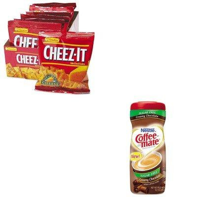KITKEB12233NES59573 - Value Kit - Coffee-mate Sugar Free Creamy Chocolate Flavor Powdered Creamer (NES59573) and Kellogg's Cheez-It Crackers (KEB12233)