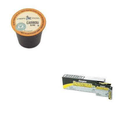 KITEVEEN91GMT6992CT - Value Kit - Green Mountain Coffee Roasters Caribou Blend Coffee K-Cups (GMT6992CT) and Energizer Industrial Alkaline Batteries (EVEEN91)