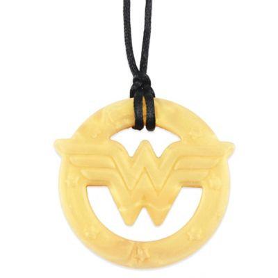 Silicone Teething Pendant - Bumkins - DC Comics Wonder Woman Gold