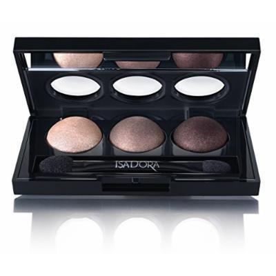 Isadora Eye Shadow Trio. Extra Long Lasting. Fragrance Free. Clinically Tested. (81 Cool Browns)