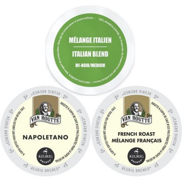Faro Roasting Houses Van Houtte European Coffee K-Cup Variety Pack, 72 ct Sampler - Van Houtte Napoletano & French Roast, Faro Italian Medium Roast
