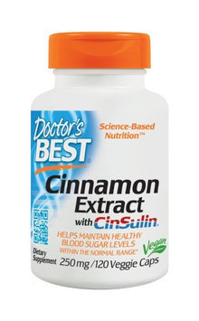 Doctor's Best Cinnamon Extract with CinSulin 250mg Doctors Best 120 VCaps