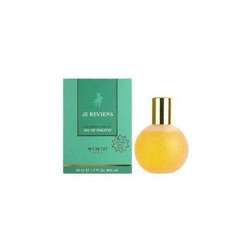 Je Reviens by Worth for Women 1.7 oz Eau de Toilette Spray Special Edition Flacon Rose Pastel