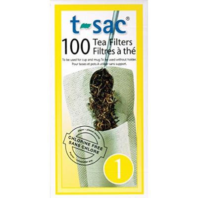 T-Sac Tea Filters, Size 1 (1 Cup), 100-count Box (12)