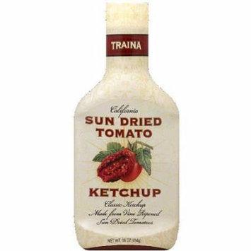 Traina Foods Gourmet Siracha Ketchup - OU Kosher - Siracha Sun Dried Tomato Ketchup (2 Pack) (16 oz each)