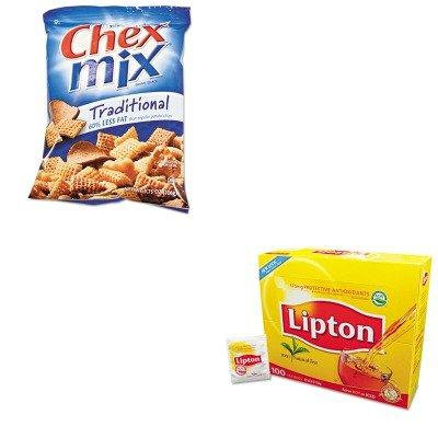 KITAVTSN35181LIP291 - Value Kit - General Mills Chex Mix (AVTSN35181) and Lipton Tea Bags (LIP291)