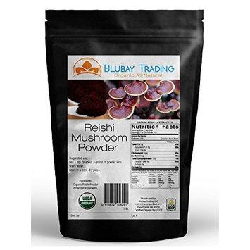 Organic Reishi Mushroom Extract Powder 4:1 Strength Non-Gmo 16 oz. 1 lb