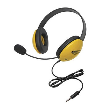 Califone 1583809 Listening First Stereo Headset with Plug - Yellow