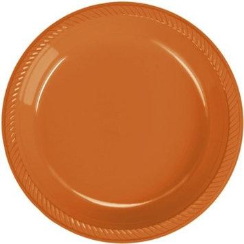 Orange Soda Plastic Dessert Plate 20 Count