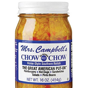 GOLDING FARMS Mrs. Campbell's All Natural Sweet Southern Chow Chow Relish, 16 Ounce Glass Jar