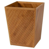 Spa Bamboo Bathroom Wastebasket Bamboo Light Brown - Creative Bath®