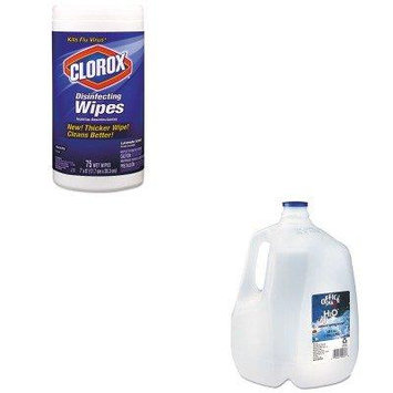 KITCOX01761EAOFX00032 - Value Kit - Office Snax Bottled Spring Water (OFX00032) and Clorox Disinfecting Wipes (COX01761EA)