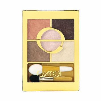 Excel Tokyo Make Up Five Layer's Eye Shadow N - Peach Brown