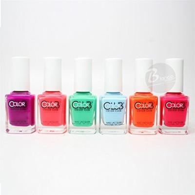 Club Poptastic Pastel Neon Collection Lacquer Set of 6 Color AN07 - AN13 by Color Club