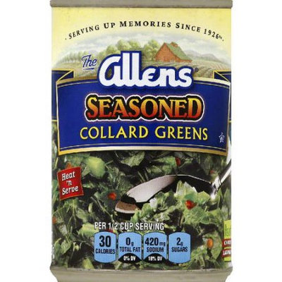 Allens Seasoned Collard Greens, 14 oz (Pack of 24)