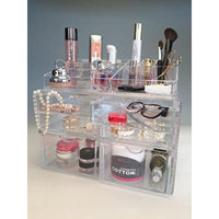 Beauty Acrylic Makeup Organizer Luxury Cosmetics Acrylic Clear Case Storage Insert Holder Box (2168)