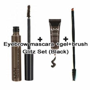 Nyx Waterproof Eyebrow Gel & Mascara Set (Free PRO Dual Brush) (BLACK)