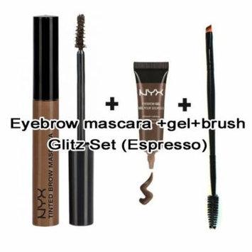 Nyx Waterproof Eyebrow Gel & Mascara Set (Free PRO Dual Brush) (ESPRESSO)