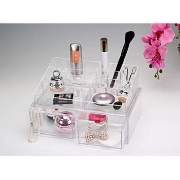 Beauty Acrylic Makeup Organizer Luxury Cosmetics Acrylic Clear Case Storage Insert Holder Box (2166)