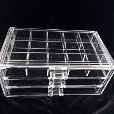 Beauty Acrylic Makeup Organizer Luxury Cosmetics Acrylic Clear Case Storage Insert Holder Box (1005-7)