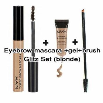 Nyx Waterproof Eyebrow Gel & Mascara Set (Free PRO Dual Brush) (BLONDE)