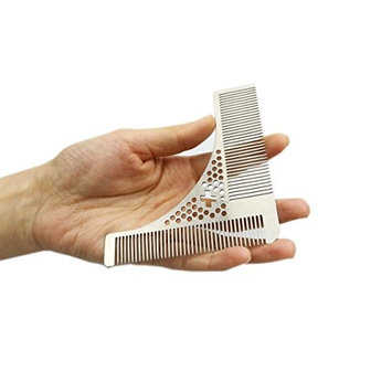 SHARPSWISS Professional Shaping & Styling Beard Comb For Men Pefect Trim Template Tool For Beard Line & Symmetry