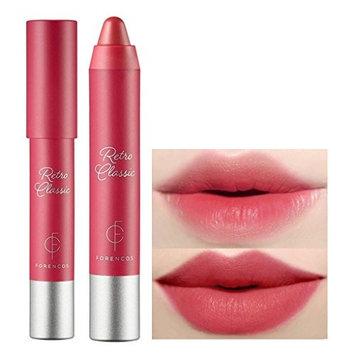 FORENCOS Retro Classic Lip Crayon 2.5g / Creamy Velvet Finish Lip Balm Stick