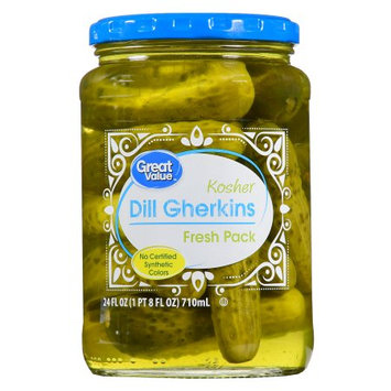 Wal-mart Stores, Inc. Great Value Kosher Dill Gherkins Pickles, 24 oz