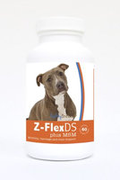 Healthy Breeds 840235126034 Pit Bull Z-FlexDS plus MSM Chewable Tablets - 60 Count