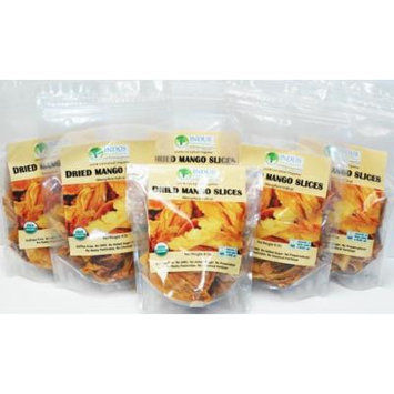 Indus Organic 100% Dried Mango Slices, 48 Oz (6 bags of 8 Oz), Raw, Sulfite Free, No Added Sugar, Freshly Packed
