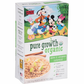 Pure Growth Organic Foods, Llc Pure Growth ® Organic Apples & Cinnamon Oatmeal 6-1.5 oz. Packets