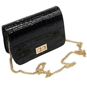 Creazy Women Messenger Bags Shoulder Bags Handbag Small Body Bags (black)