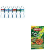 KITDFD34325NLE101243 - Value Kit - Emerald 100 Calorie Pack All Natural Almonds (DFD34325) and Nestle Bottled Spring Water (NLE101243)