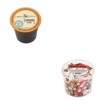KITGMT6992OFX00013 - Value Kit - Green Mountain Coffee Roasters Caribou Blend Coffee K-Cups (GMT6992) and Office Snax Soft amp;amp; Chewy Mix (OFX00013)