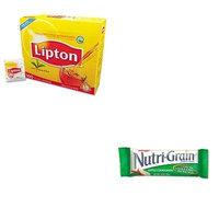 KITKEB35645LIP291 - Value Kit - Kellogg's Nutri-Grain Cereal Bars (KEB35645) and Lipton Tea Bags (LIP291)