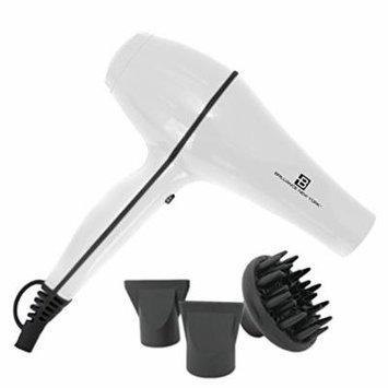 Brilliance New York - ProDryer 3600 Professional Hair Dryer, 1875 Watt Ultra Powerful, Lightweight Motor, White