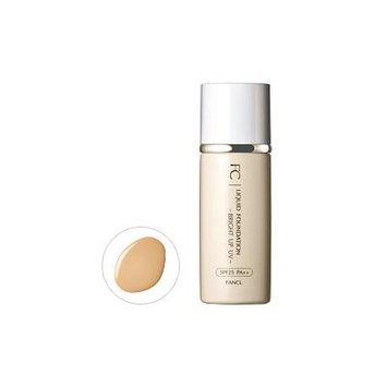 Fancl Liquid Foundation Bright Up UV SPF25EPA++27ml - Yellow Beige Medium (Green Tea Set)